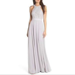 NWT Lulu's Floral Lace Maxi Flare Dress Love Poem